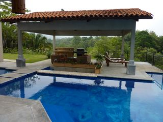 Playa Hermosa estate photo - Swim-up Bar, Outdoor Lounge area with BBQ and Floating Deck