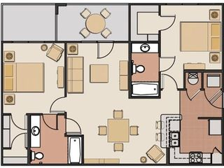 Champions Gate condo photo - 2 Bedroom Floor Plan