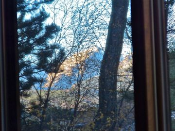 Fall Mountain View As Seen From Front Room Wooden Glass Sliders