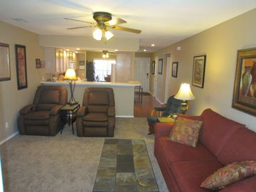 Branson condo rental - This walk in Branson condo at Pointe Royale is close to the pools & golf cou