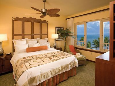 Master Bedroom with a view of the ocean.