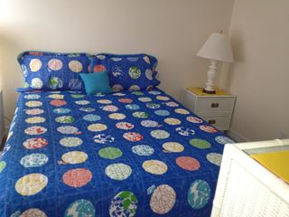Queen bedroom upstairs - North Topsail Beach cottage vacation rental photo