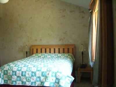 Isanti house rental - Master bedroom - has good view of the lake