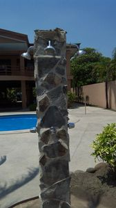 Puntarenas City estate rental - Outside shower right off the beach.
