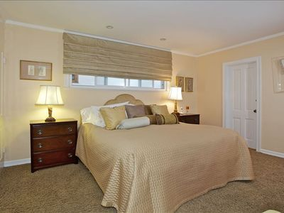 Master Bedroom with Very Comfortable King Bed and TV
