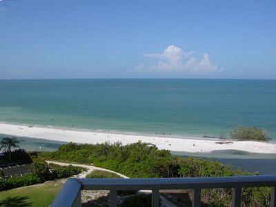 A beautiful, uncrowded beach right outside your door; photo taken from balcony.