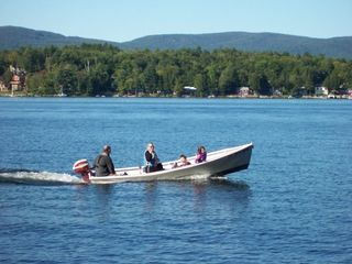 Newfound Lake cottage photo - Great place to not only swim, but to go for a little boat ride.
