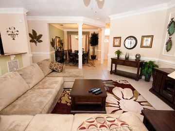 Beautifully decorated Family Room