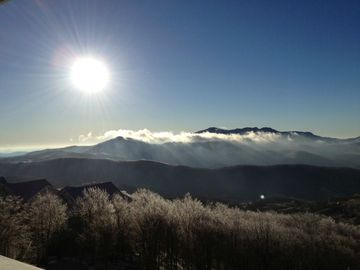 Beautiful Winter sunrise photo of Grandfather Mountain