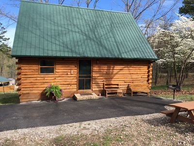 Family cabin with picnic table, bbq grill and great views.  Sleeps up to 6.