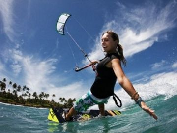 Go kite surfing