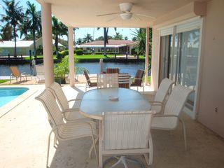 Fort Lauderdale house photo - Lanai has plenty a seating for outdoor dining and socializing.