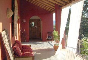 The veranda at cortijo