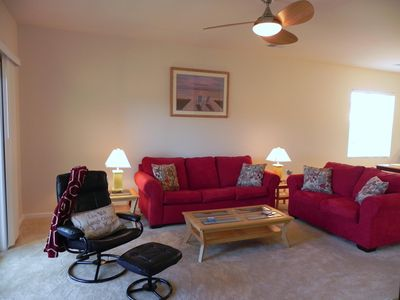 Windy Hill condo rental - Spacious Living Room with Queen Sleeper Sofa