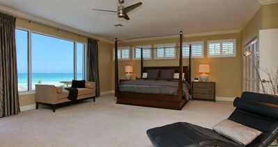 Second Floor Master Bedroom With King Size Bed And Beach View