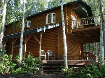 Willow cabin rental - Rainbow Lake lodge with deck looking out on the water