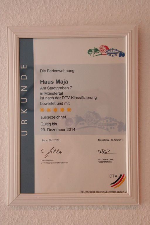 5-star-rating by the German tourism board DTV
