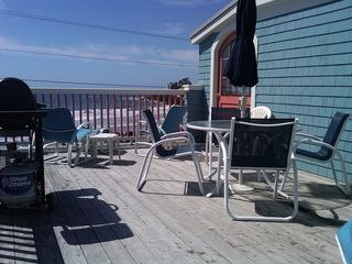 Kennebunk Beach house photo - The Upper Deck on a Sunny Beach Day