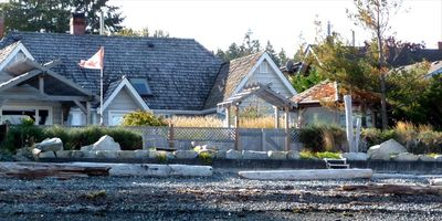 Gray Gables Provides Private Access to Qualicum Beach's Favorite Sandy Beach