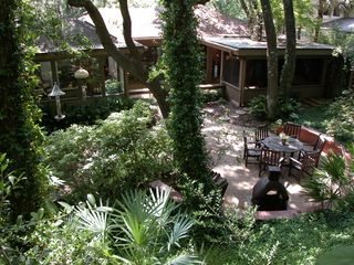Amelia Island house photo - The backyard from the sand dune/beach path walkway