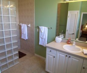 Cape Coral house photo - Master Bathroom. Large walk-in shower and vanity.