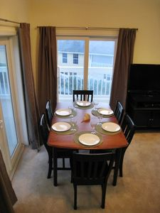 Open floor plan, dining, living & kitchen combo on 2nd floor.