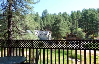 Flagstaff cabin photo - View of neighborhood from front deck.