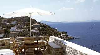 Hydra Island villa photo - Lunch and dinner on terrace overlooking sea