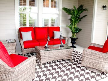 Tuscaloosa condo rental - Comfortable outdoor living while you enjoy tailgaiting or watching the river.