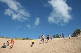 The biggest sand box in the world! Run, jump and have fun at Sleeping Bear Dunes