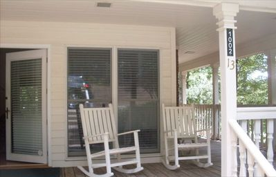 Greensboro house rental - Inviting rockers and swing on our porch