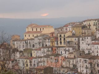 Avellino house photo - Winter Sunset Over the Ancient Calitri Borgo