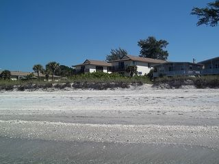 Manasota Key condo photo - View of Condo from Beach
