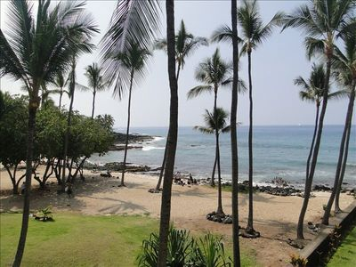 Amazing view of Honl's beach and park from our Lanai!!!