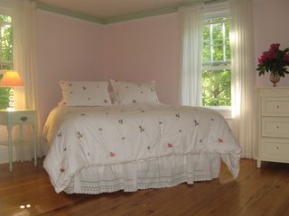 Wytheville farmhouse photo - This upstairs bedroom is open and airy, and will charm any lady of any age.