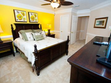 "Beautifully decorated room with Tommy Bahama furniture. 32"" HDTV flat panel"
