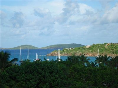 Your ocean view of Great Cruz Bay.
