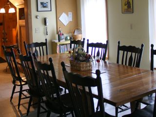 Large farm table seats 10+