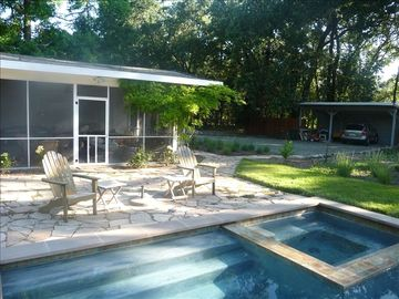 St Helena house rental - Patio and Pool/Jacuzzi and Screened-In Porch