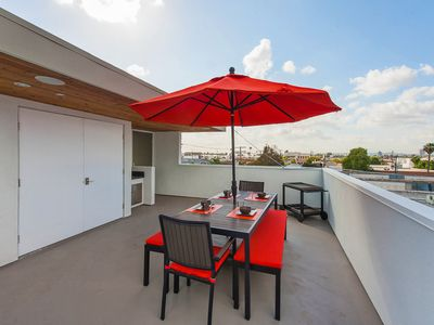 Another view of the spectacular rooftop deck.