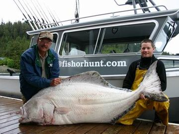 Prince of Wales Island cottage rental - Awesome halibut caught on our charter boat!