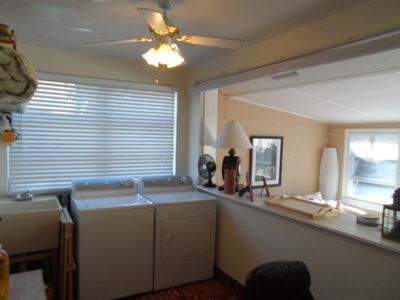 laundry room with office in main house 2br