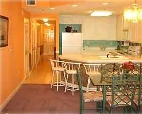 Entrance Hallway,Kitchen and Dining Area from Living Room Beach Rental