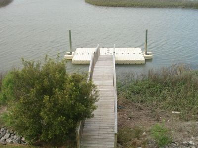 Private floating dock, River and Ocean kayak included