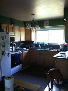 Kitchen comes fully furnished. Everything you could need is here.