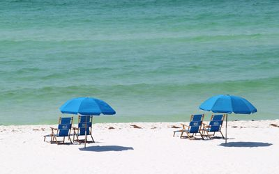 Picture yourself here! Beach service with two chairs and umbrella included!