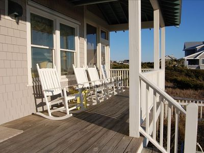 Oceanfront Rocking Covered Rocking Chair Porch