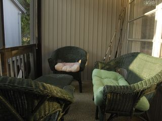 Sanibel Island cottage photo - Screened back lanai - our place for after morning swim & coffee