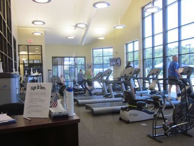 New Fitness Room with great equipment and view