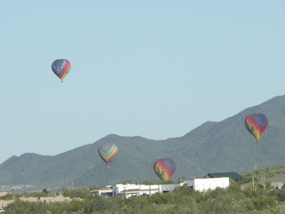 This photo was taken from our West patio. Hot air balloon rides are very popular